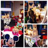 kids party buffet and sweet cart